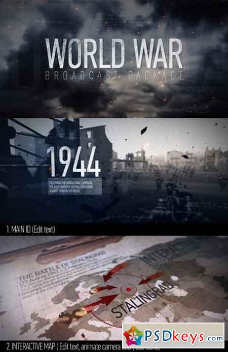 World War Broadcast Package 12906648 - After Effects Projects