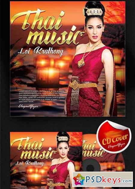 Thai Music CD Cover PSD Template