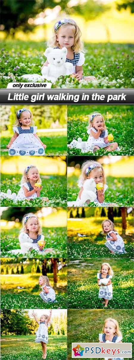 Little girl walking in the park - 11 UHQ JPEG