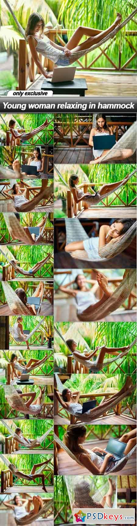 Young woman relaxing in hammock - 20 UHQ JPEG