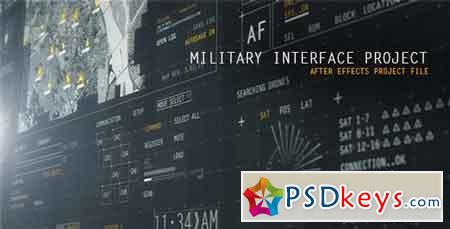 HUD Military Interface Project 12586082 - After Effects Projects