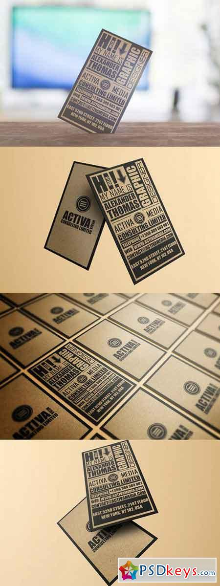 Kraft Paper Typography Business Card 373991 » Free Download ...