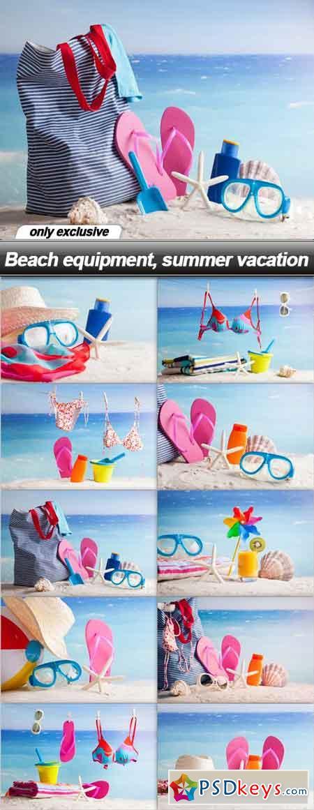 Beach equipment, summer vacation - 10 UHQ JPEG