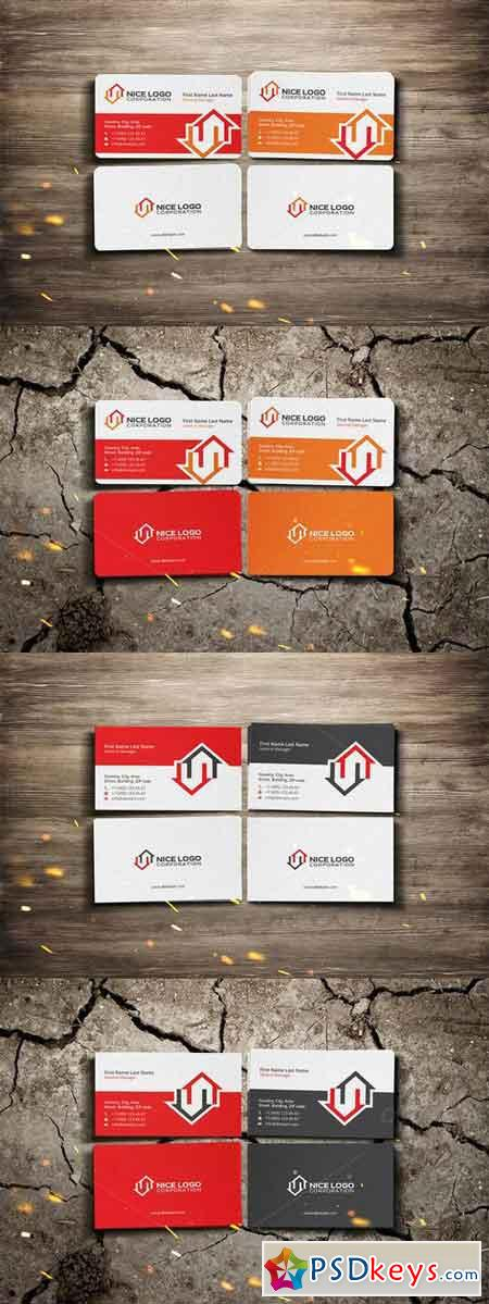 two houses business card 710696