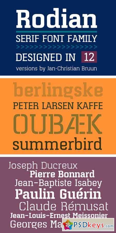 Rodian Serif Typeface