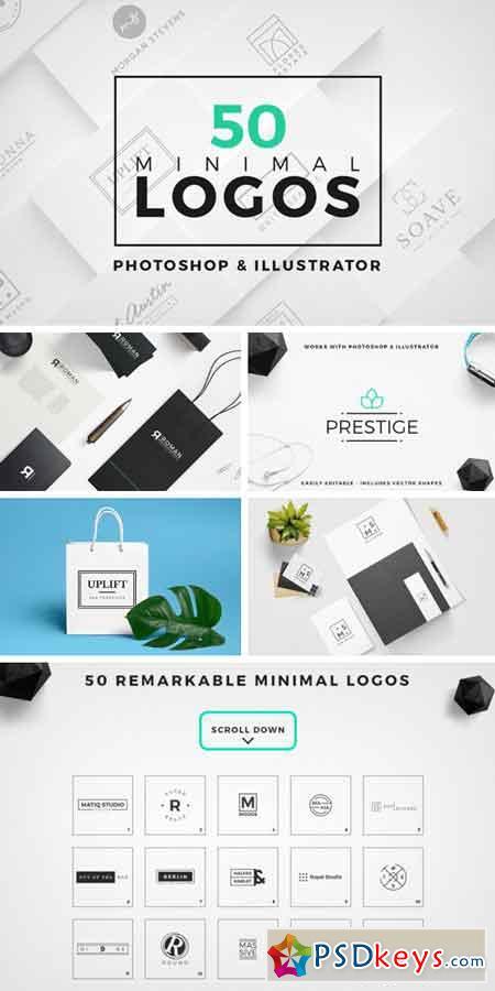 50 Minimal Logos 839085