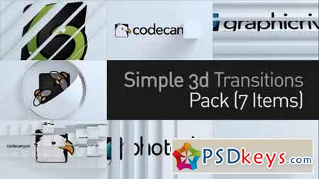 3D Simple Transitions Pack 11224462 - After Effects Projects