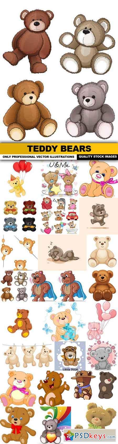 Teddy Bears - 25 Vector