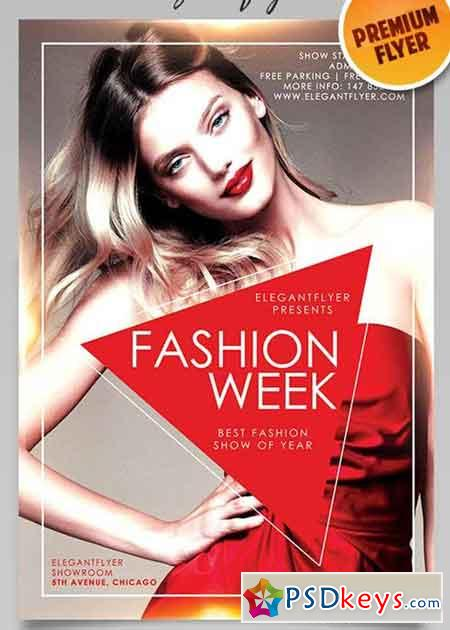 Fashion Week V3 Flyer Psd Template Facebook Cover Free Download Photoshop Vector Stock Image