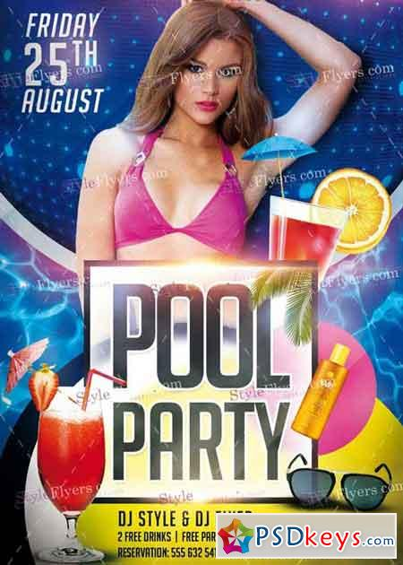 Pool Party V7 Psd Flyer Template » Free Download Photoshop Vector