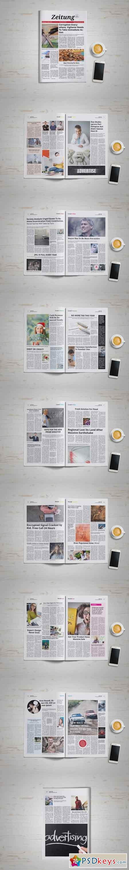 Zeitung Newspaper 671675 » Free Download Photoshop Vector Stock ...