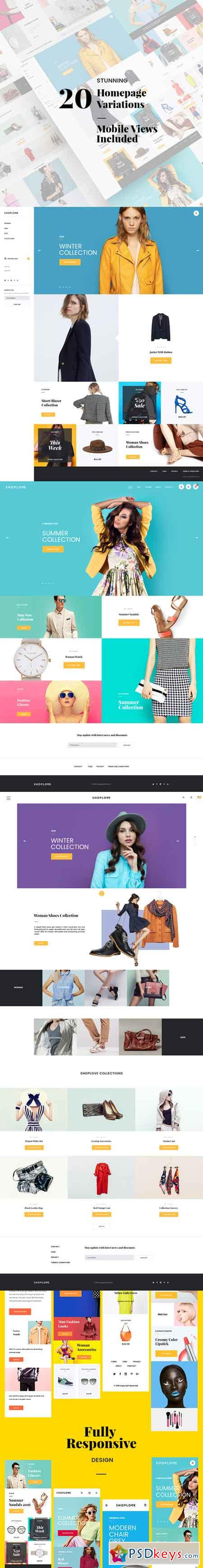 ShopLove E-commerce PSD Mobile Incl. 671390