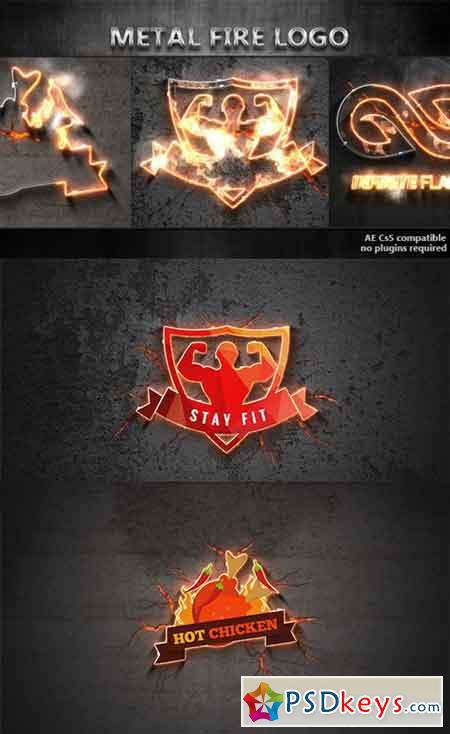 Metal Fire Logo 17324302 - After Effects Projects