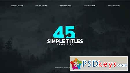 45 Simple Titles 17314272 - After Effects Projects