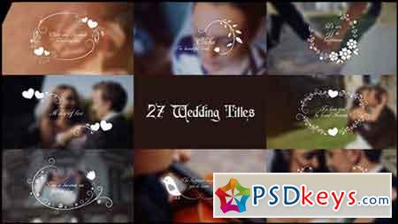 Wedding Titles 17267979 - After Effects Projects