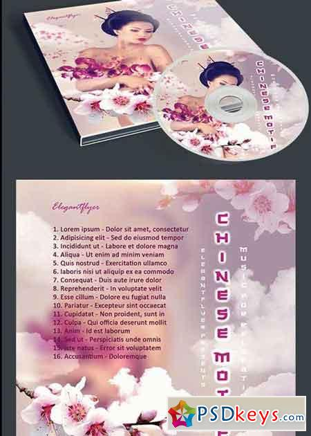 Chinese Motif CD Cover PSD Template