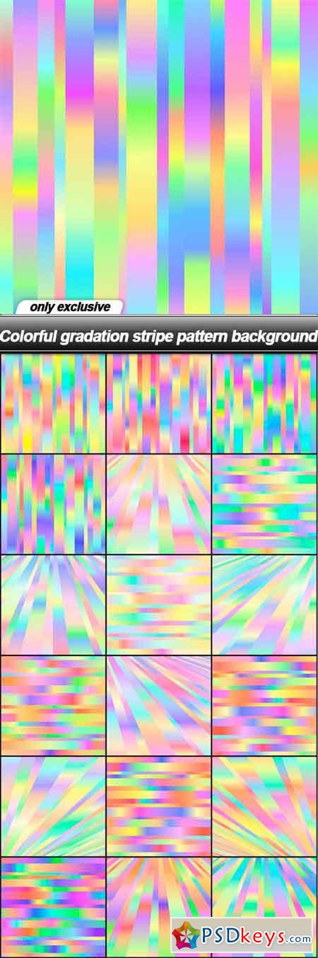 Colorful gradation stripe pattern background - 18 EPS