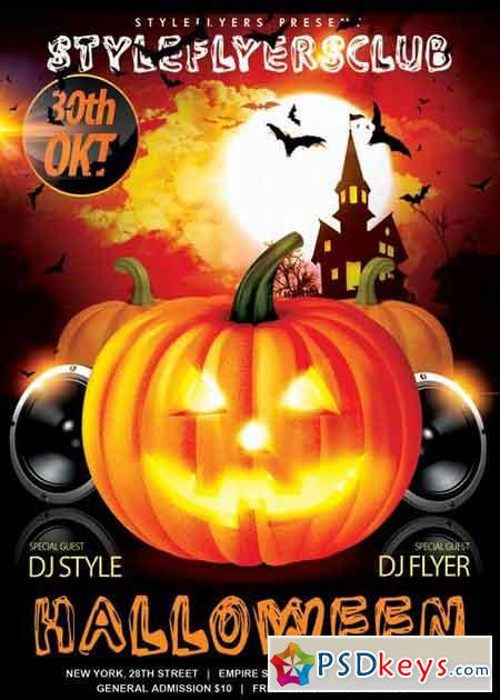 Halloween V6 PSD Flyer Template