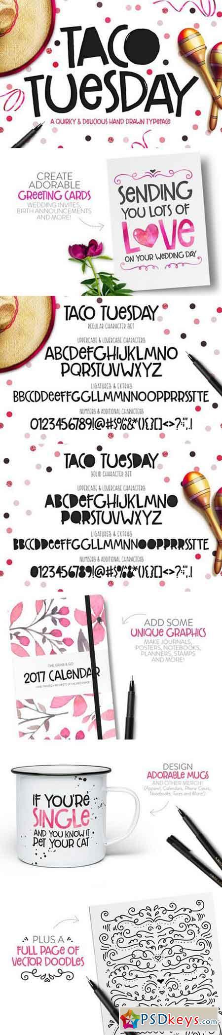 Taco Tuesday Typeface 852743