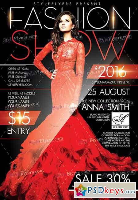 Fashion show psd flyer template facebook cover free for Fashion flyers templates for free