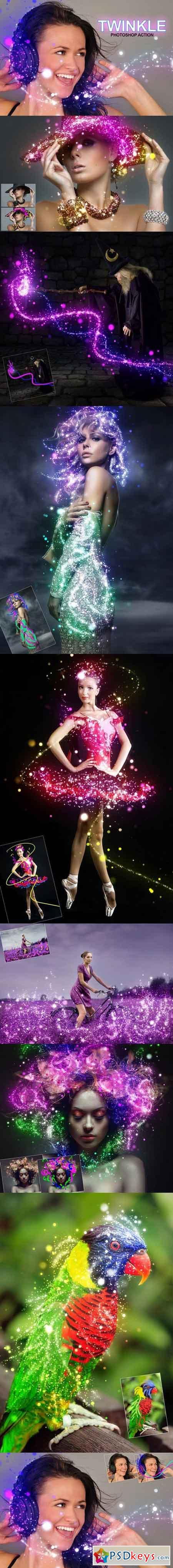 Twinkle Photoshop Action 859656