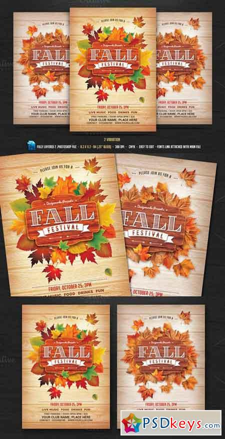Fall Autumn Festival Flyer   Free Download Photoshop Vector