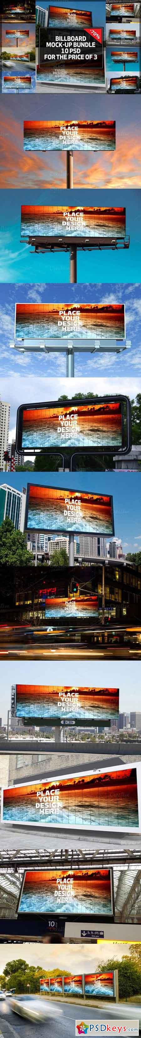 10 Billboard Mock-up Bundle 865290