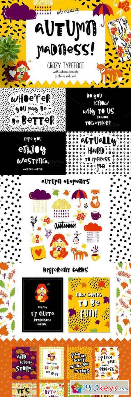 Autumn Madness Typefase & Elements 865702
