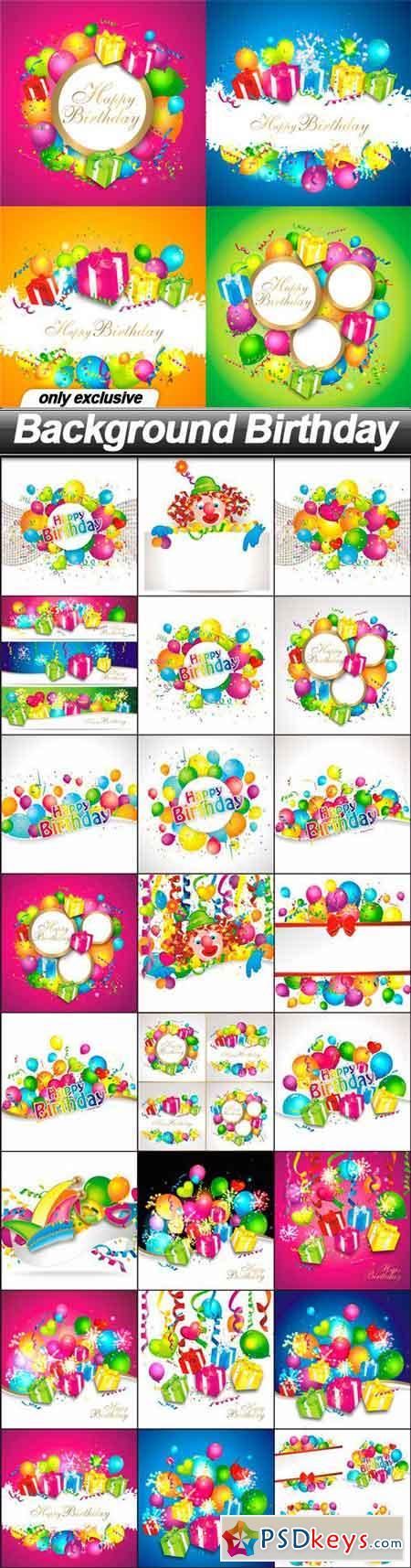 Background Birthday - 25 EPS » Free Download Photoshop