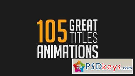 105 Great Title Animations 17403772 - After Effects Projects