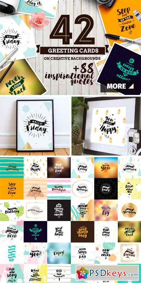 42 Lettering Cards + Bonus 88 Quotes 867213