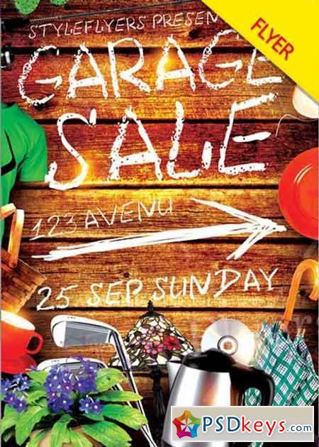 Garage Sale Flyer V8 Psd Flyer Template Free Download Photoshop