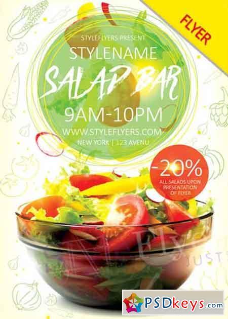 Salad Bar Flyer V1 Psd Flyer Template Free Download Photoshop