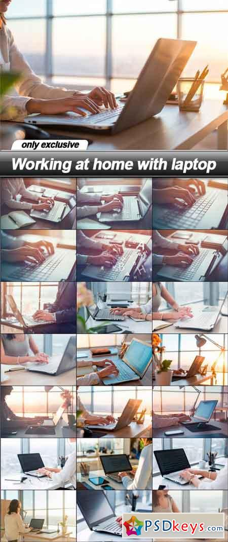 Working at home with laptop - 21 UHQ JPEG