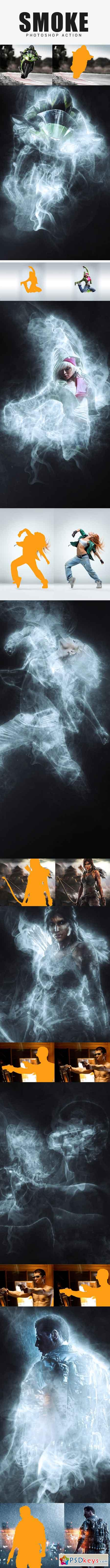 Smoke Photoshop Action 17530990