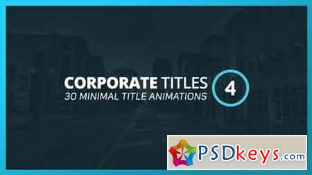 Corporate Titles 4 17304072 - After Effects Projects