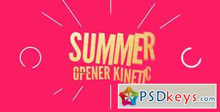 Summer Opener Kinetic 16799070 - After Effects Projects