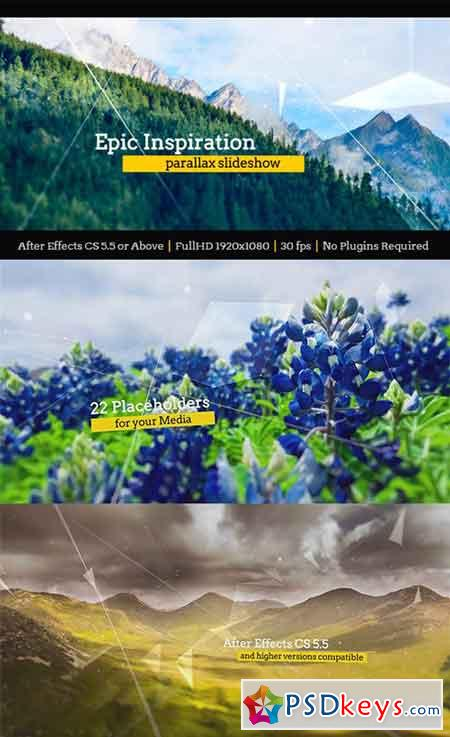 Epic Inspiration Parallax Slideshow 17253692 - After Effects Projects