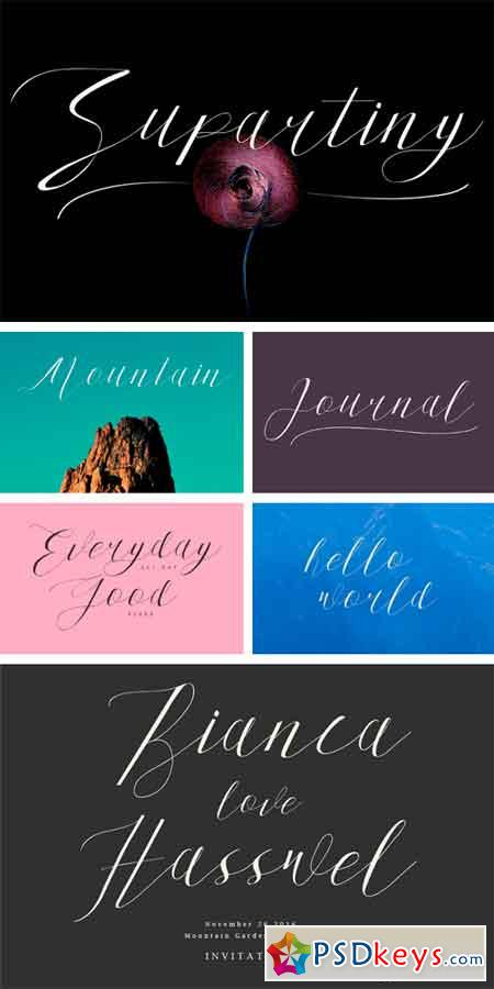 Supartiny Typeface 866504