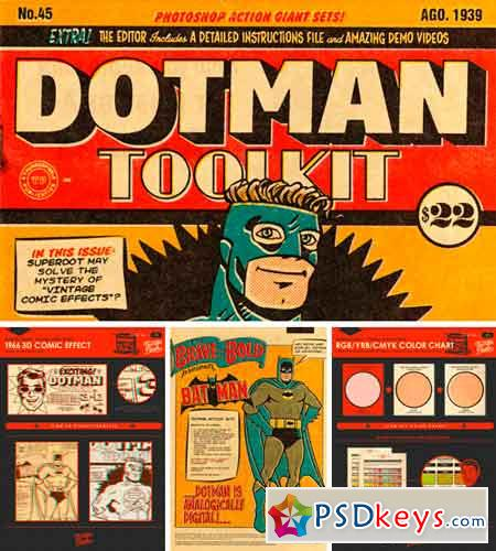 DotMan ToolKit Vintage Comic Effects 309583