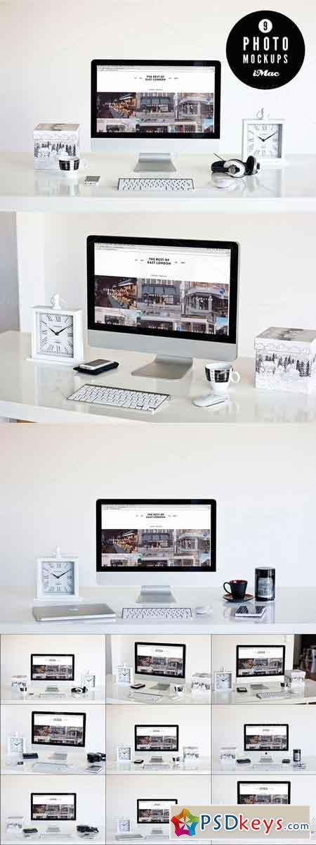 B&W 9 iMac photo mockups 107892