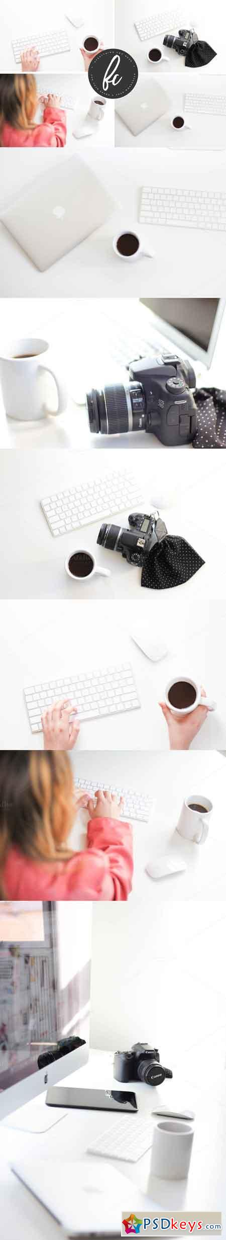 MINIMAL DESK STOCK PHOTO BUNDLE 786698
