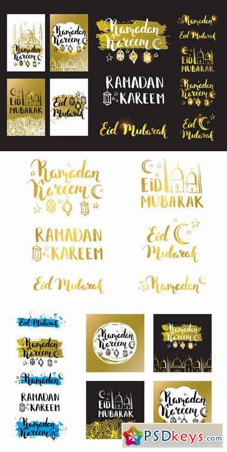 Ramadan golden Cards and elements 714450