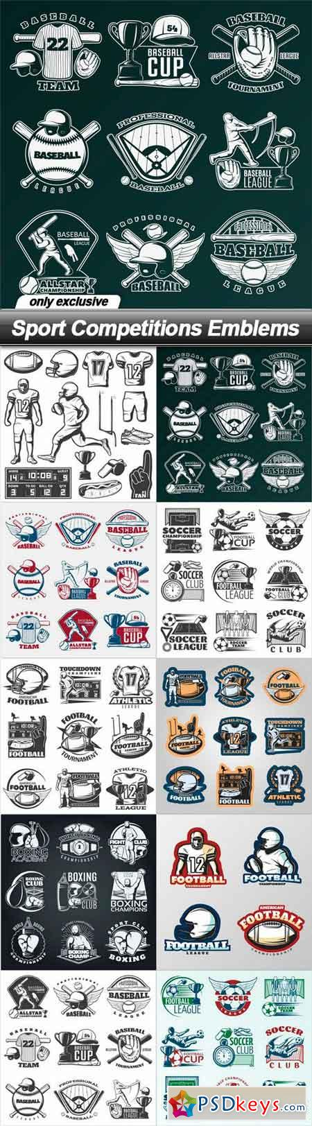 Sport Competitions Emblems - 10 EPS