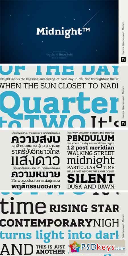 Midnight Font Family - Latin + Thai Language