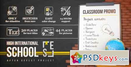 School Classroom Promo 17415139 - After Effects Projects