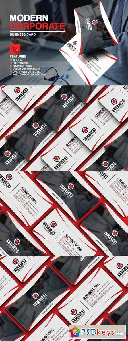 Modern Corporate Business Card 629292