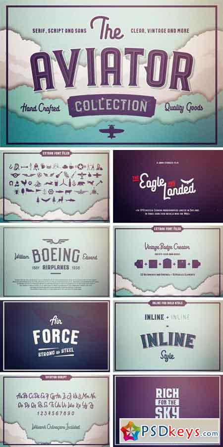 The Aviator Font Collection 844396