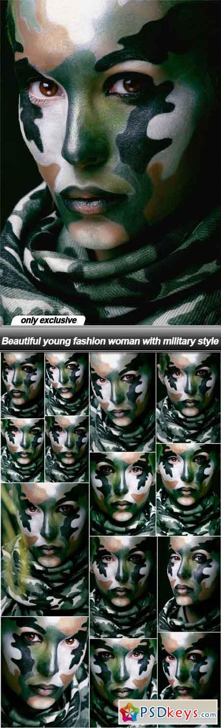 Beautiful young fashion woman with military style - 14 UHQ JPEG