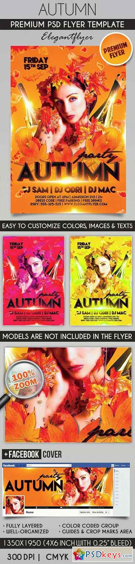 Autumn – Flyer PSD Template + Facebook Cover